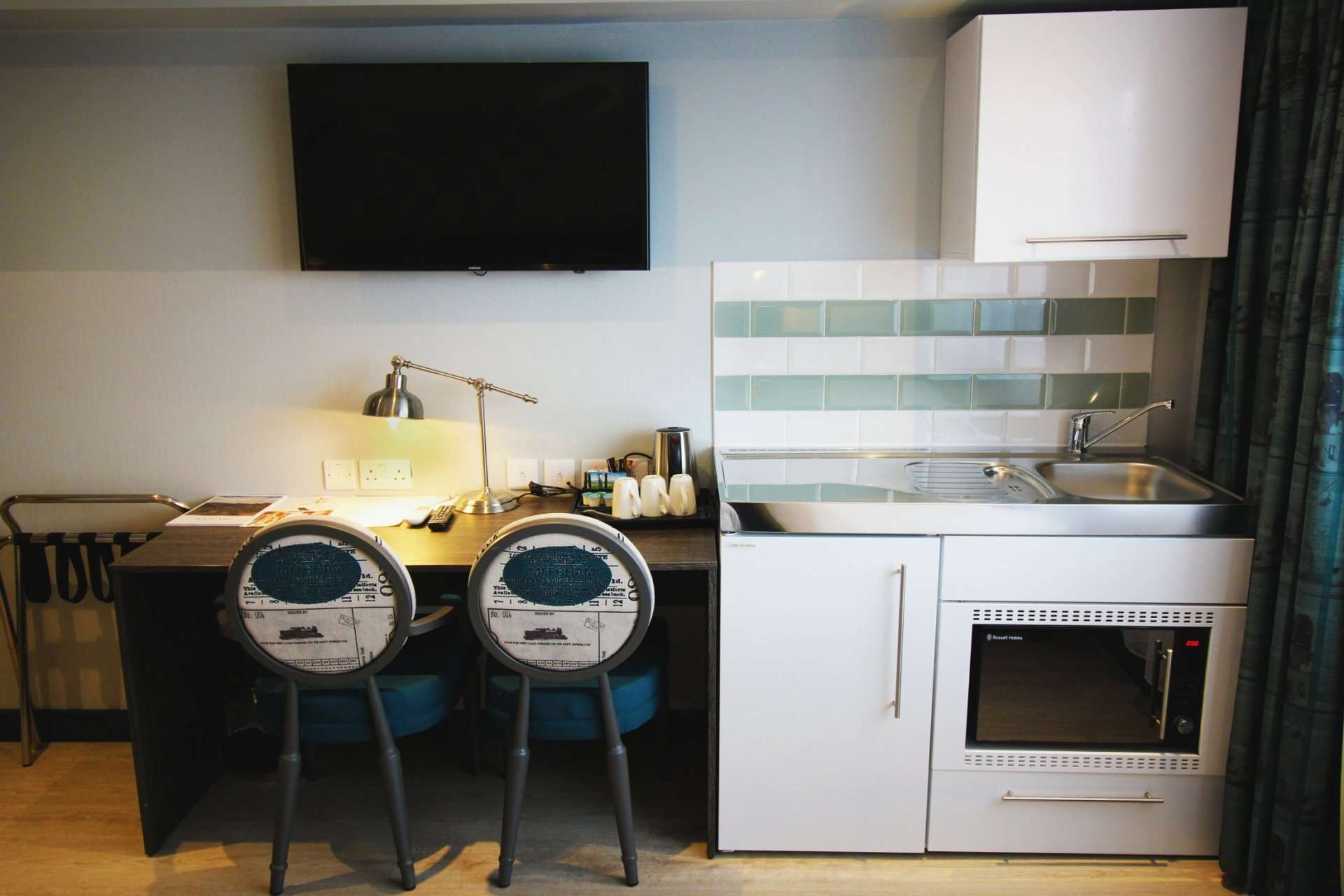 shared kitchenette at The London Croydon Aparthotel