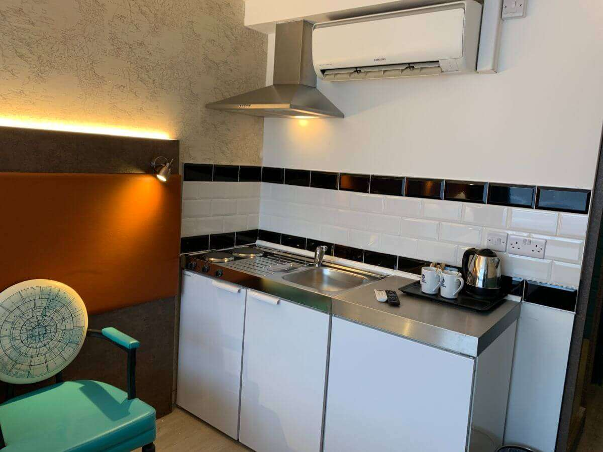 Making a hotel their home with kitchenettes in rooms